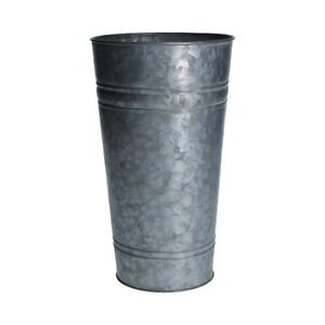 Small Metal Galvanized Planter / Slim Bucket / Vase by Gisela Graham