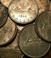 1962 CANADA SILVER DOLLAR COIN