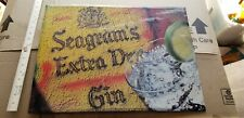 VINTAGE Seagrams Extra Dry Gin Advertising Bar SIGN  B
