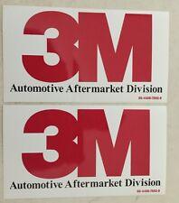 "2 Pcs Authentic Original 3M Racing Decal Sticker 7.5"" X 3.25"""