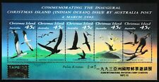 Sea Birds mnh souvenir sheet 1993 Christmas Island #349g gold Taipei overprint