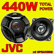 JVC 440W TOTAL 4 INCH 10cm 2-WAY CAR/VAN DOOR/SHELF COAXIAL DRVN SPEAKERS PAIR
