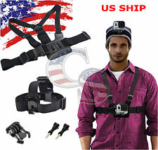 5IN1 Harness Head + Chest Strap Mount Accessories Kit For GoPro 1 2 3 4 Camera
