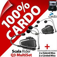 Nuevo Cardo Scala Rider Q3 Multiset Bluetooth Casco de Motocicleta Intercomunicador Auriculares