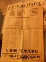Vecchia pubblicita' LOTTERIA ITALIA 5 GENNAIO 1985 vintage COLLEZIONE
