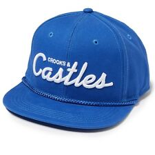 CROOKS AND CASTLES TEAM CROOKS SNAPBACK COBALT BNWT