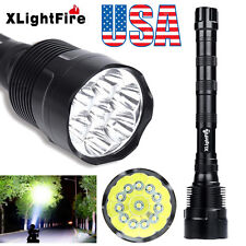 Tactical 30000Lumens 12x CREE XML T6 5Mode Super Bright LED Police Flashlight US