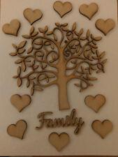 Family Tree Kit Set Heart Maker Laser Cut Wooden Craft Blank Wedding