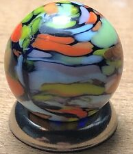 "Marbles: 5/8"" Vintage CAC Christensen Single Seam Cobalt Guinea Marble!!!"