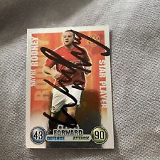 More details for topps match attax trade card signed by wayne rooney man utd