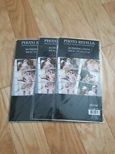 "Lot of 3 Packs - Pinnacle Photo Refills 60 Photos sleeves per pack. 4""x 6"" NEW"