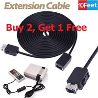 10ft/ 3m Extension Cable Cord For Nintendo Mini NES Classic Edition Controller