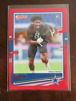 2020 Donruss Football Card Red Press Proof Trevon Diggs RC Cowboys Cards NFL
