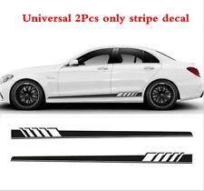 2Pcs Car Racing Graphics Side Body Vinyl Decal Sticker Long Stripe Decals Black(Fits: Toyota Matrix)