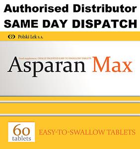 Asparan Max (60-180)tablets Magnesium & Potassium ASPARGIN  Magnez i Potas 06.22