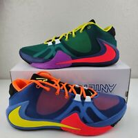 "Nike Zoom Freak 1 ""What The"" Roots Total Orange Yellow Multi Giannis CT8476-800"