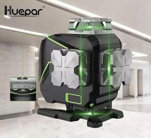 Huepar S04 CG laser level,4x360,4D Multi lines, Bluetooth ,Remote control, LCD
