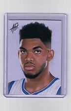 2015 ACEO Sketch Card KARL-ANTHONY TOWNS Minnesota Timberwolves 1/1