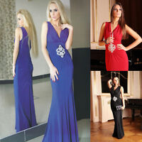 Long Party Evening Ladies Womens Gown Cocktail Bridesmaid Prom Maxi Dress 8 - 18