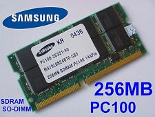 256MB PC100 SDRAM CL2 NP SO-DIMM 144 pin NOTEBOOK LAPTOP SODIMM RAM