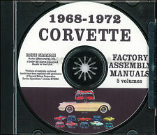 Corvette Factory Assembly Manual on CD 1968 1969 1970 1971 1972 Chevrolet Chevy