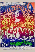 Big Brother at Selland in Fresno Concert Poster Circa 1968