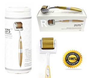 ZGTS Titanium Micro Needle Derma Skin Roller 1.0mm Face, Anti-aging, Scars