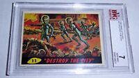 1962 Mars Attacks Destroy the City Card #11 BVG 7 Like PSA BGS Alien UFO Topps