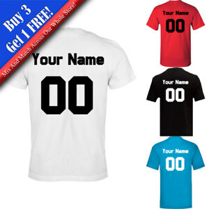 Personalised Men's Football T-Shirt, Various Sizes and Colours Available