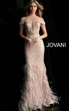 Jovani Rose Gold Off the Shoulder Gown/ Evening Dress  #62744 - size 6