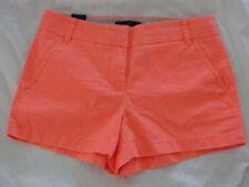 "J CREW 3"" CHINO SHORTS 2 XS X-Small Neon Flame Orange Bright Bottoms NEW NWT"