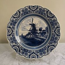 Delft Blue Handpainted Deco Plate - Made in Holland