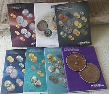 7 Huge Glossy US Coin Auction Catalogs 2011-2013 - Heritage and Stacks