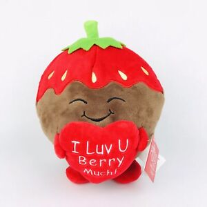 """Russ Snackeez I Luv U Berry Much Strawberry Food Plush 10"""" Soft Toy Collection"""
