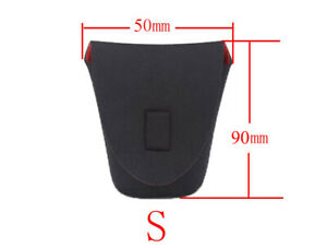 Small Neoprene Camera Lens Bag Pouch Soft Waterproof  Protector Lenses UK STOCK