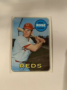Pete Rose 1969 Topps Card # 120 Excellent +/ Near Mint
