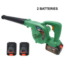 21V Lithium-ion Batteries cordless 2-in-1 Blower Vacuum Sweeper Leaf Dust