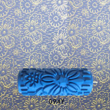 """5"""" Embossed Pattern Painting Roller Brush Tool for Wall DIY Decor Blue 5#"""