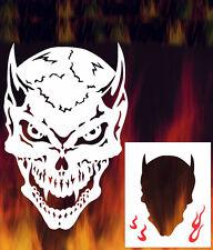 Skull 12 Airbrush Stencil Spray Vision Template air brush