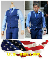 1/6 Ben Affleck Gentleman blue Fashion Suit Bruce Wayne for Hot toy Phicen ❶USA❶