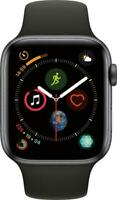 Apple Watch Series 4 44mm Space Gray Aluminum Case Black Band (GPS + Cellular)