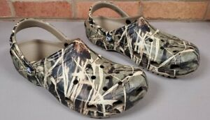 CROCS 12132 Mens Realtree Advantage Max 4 HD Camouflage Clog Shoes Size 13