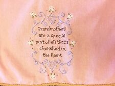 Natural Life Vintage Look Embroidered Grandmother's Small Towel Kitchen Bath Exc