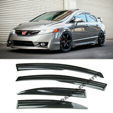 06-11 Civic 4Dr Mugen JDM Style Window Rain Guard Vent Shadow Visor Deflector