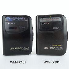2 Vintage Sony Walkmans Wm-Fx101 & Wm-Fx301 Partially Operating Parts or Repair