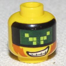 LEGO NEW CYCLOPS MINIFIGURE HEAD WITH VISOR MASK AND SMIRK
