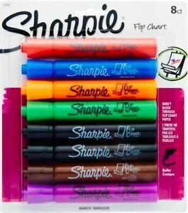 Brand New Sharpie Flip Chart Markers, Assorted, 8-Pack