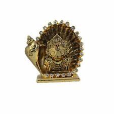 Lord Jagannath In Conch Shell Metal Stone Studded Car Idol Home Decor Figurine