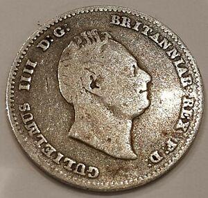 *Scarce* 1836 William IIII Three Pence Silver Coin L2
