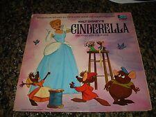 Walt Disney's Cinderella The Story & The Songs (LP 1969) VG/EX w Book Classic